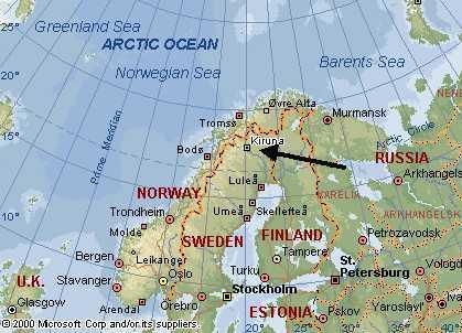Resultado de imagen para kiruna mapa
